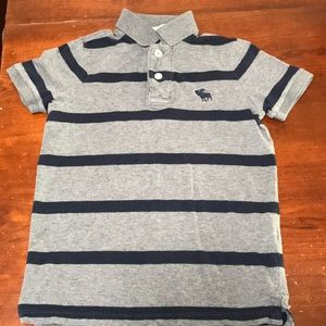 Boys striped Abercrombie muscle polo